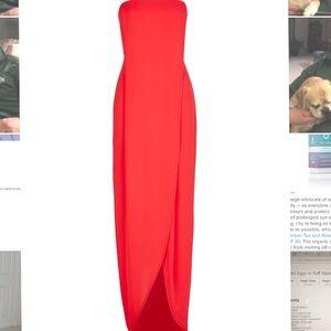 Beautiful, long chiffon strapless dress
